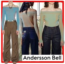 ☆【ANDERSSON BELL】☆HAILEY TWO-TONE OFF-SHOULDER KNIT TO.P