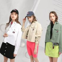 TOMMY JEANS【トミージーンズ】クロップドワークシャツ 全3色