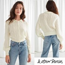 【& Other Stories】春色 Alpaca Blend Cable Knit Cardigan