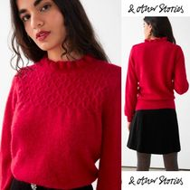 【& Other Stories】3色上品 Ruffled Collar Wool Knit Sweater