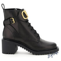 VLOGO COMBAT LEATHER BOOTS