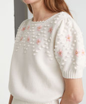 """""""& Other Stories""""新作☆Embroidered Puff Sleeve Knit Sweater"""
