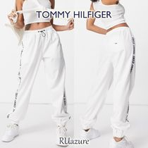Tommy Jeans ロゴテープ ジョガーパンツ White《関送込》
