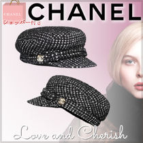 21ss新作★国内発送★CHANEL★キャップ★ツイード★BKWH