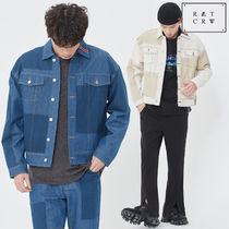 ROMANTIC CROWN★韓国大人気★ STITCH DENIM JACKET 2色
