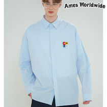 ★AMES-WORLDWIDE★PALETTE LOGO OVERFIT SHIRTS_SB★正規品
