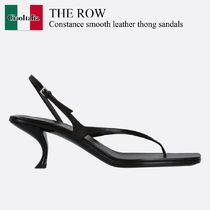 The Row Constance smooth leather thong sandals
