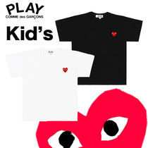 COMME des GARCONS(コムデギャルソン) キッズ用トップス すぐ届く☆国内発【コムデギャルソン】Kid's ハートT-シャツ