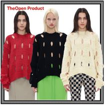 [TheOpen Product] CUT-OUT COTTON SWEATER★すぐ品切れ★