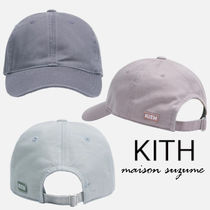 【KITH】3色展開☆Washed Twill クラシックロゴ キャップ