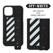 SALE★ロゴ【送込Off-White】HandleCC入付iPhone 12各種★黒白縞
