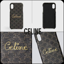 [CELINE]★I PHONE XS MAX Case in Lambskin with Triomphe