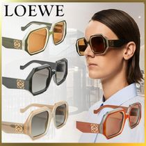 *LOEWE*Chunky rectangular sunglasses in acetate,ロエベ,