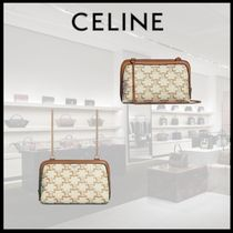 【21SS 新作】 CELINE CLUTCH WITH CHAIN IN TRIOMPHE CANVAS