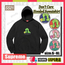 【21SS】SUPREME Don't Care Hooded Sweatshirt [追跡付き]