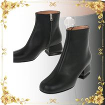 ☆SEAL☆5cm Brushed Leather Ankle Boots