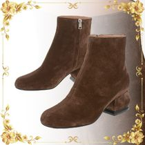 ☆SEAL☆5cm Suede Leather Ankle Boots