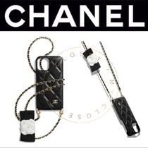 CHANEL iPhone12 pro スマホ ケース ラム マト チェーン 限定 黒