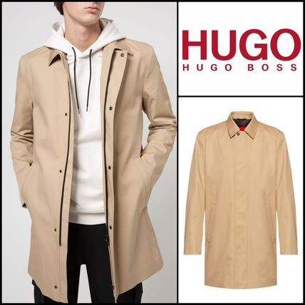 Hugo Boss★Manteau Slim Fit en tissu deperlant★HUGOコート