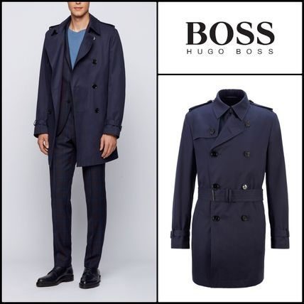 Hugo Boss★Trench en coton brosse★BOSSトレンチコート