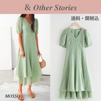 【& Other Stories】春色 Puff Sleeve Double Layer Dress 2色