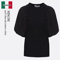 Msgm puff sleeved cotton t-shirt