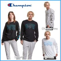 最新作!! 人気 ★CHAMPION★ Long-Sleeve Tee, Drip C Logos