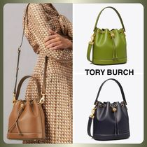 【Tory Burch】T MONOGRAM LEATHER BUCKET BAG