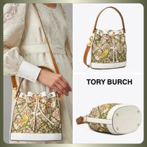 【Tory Burch】T MONOGRAM JACQUARD EMBROIDERED BUCKET BAG