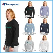 最新作!! 人気 ★CHAMPION★ Long-Sleeve Tee, Script Logo