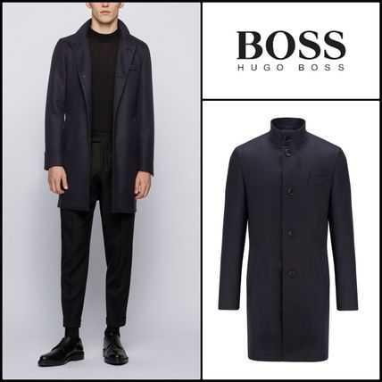 Hugo Boss★Manteau Slim Fit en coton deperlant★BOSSコート