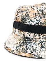 Acne Floral bucket hat フローラルロゴ刺繍ハット デザート