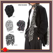 [OPEN THE DOOR] pattern silky scarf ◆全4色 ◆兼用◆追跡付