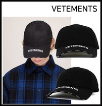【VETEMENTS】LOGO CAP 帽子 UAH21CA264