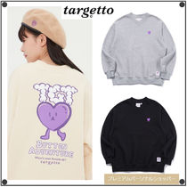 TARGETTO SEOULのHEART BUTTON V NECK SWEAT SHIRT 全3色