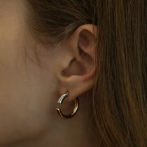 ●●韓国アクセサリ-●●LAZY DAWN two-tone round earring♪