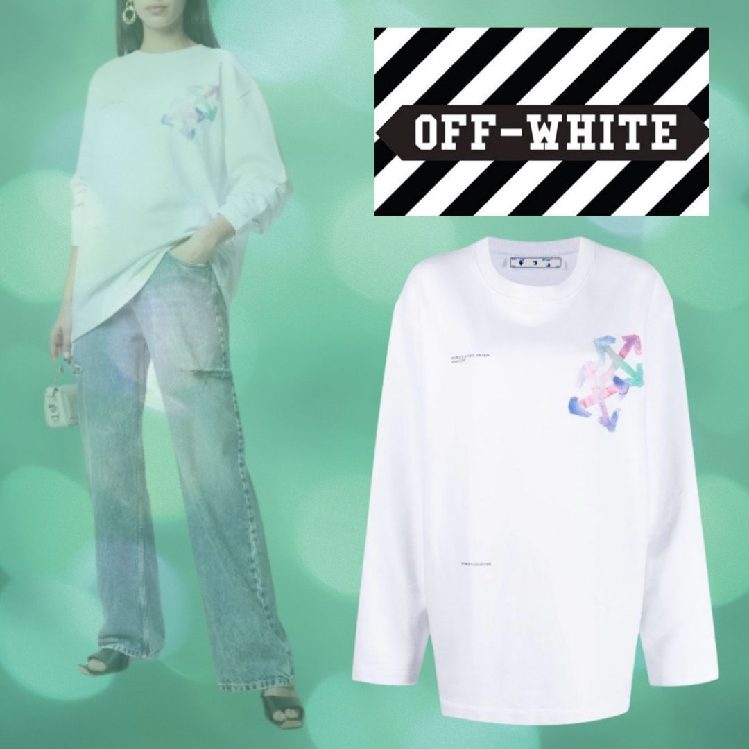 OFF-WHITE   Watercolor Arrows スウェットシャツ (Off-White/スウェット・トレーナー) OWBA062S21JER0010184