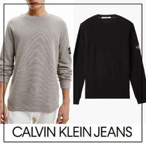 UK発★CALVIN KLEIN JEANS ワッフルニットロングTシャツ