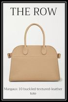【The Row】Margaux 10 buckled textured-leather tote・Beige