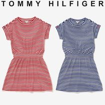 Tommy Hilfiger(トミーヒルフィガー) キッズワンピース・オールインワン TOMMY HILFIGER フラッグポイントボーダーワンピース すぐ届く