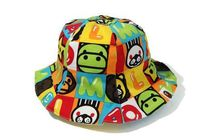 A BATHING APE(アベイシングエイプ) 帽子 【A BATHING APE】MILO FRIENDS BLOCK REVERSIBLE BABY CAP