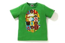 A BATHING APE(アベイシングエイプ) キッズ用トップス 【A BATHING APE】MILO FRIENDS BLOCK BIG APE HEAD TEE 全2色