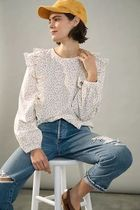 Anthropologie ★ Allaire Ruffled Top