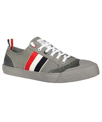 Thom Browne MFD140A-01588 LOW-TOP VULCANIZED Sneakers - Grey