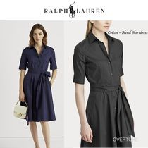 Ralph Lauren★Cotton-Blend Shirtdress