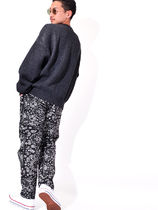 COOKMAN クックマン Waiter's Pants Black Paisley ペイズリー