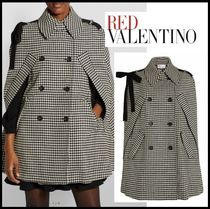 NEW★関税送料込み【RED VALENTINO】Bow-Detail Check Cape