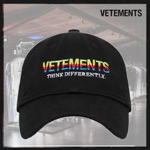 【関税込】VETEMENTS Think differently キャップ ☆2021SS☆
