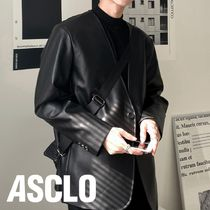 ASCLO One Button Leather Jacket (Black)
