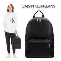CALVIN KLEIN JEANS マイクロ ぺブル バックパック BLACK